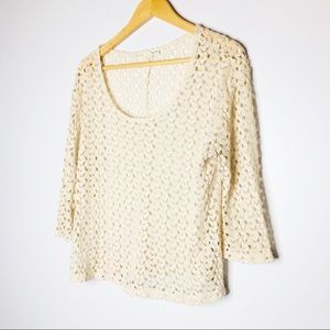 Staring at Stars Womens Cream Knit Top Size Large
